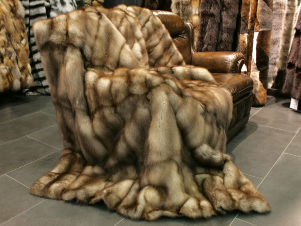 Stone Marten fur blanket