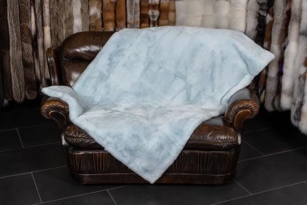 Fur Blanket Rex Rabbit in Baby Blue