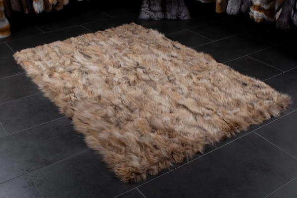 Canadian Coyote Fur Rug from Genuine Fur