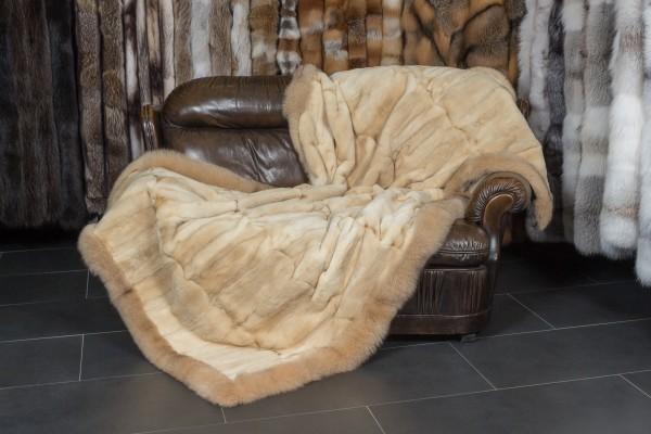 Musquash Real Fur Throw
