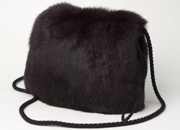 Purple Rabbit Muff Bag
