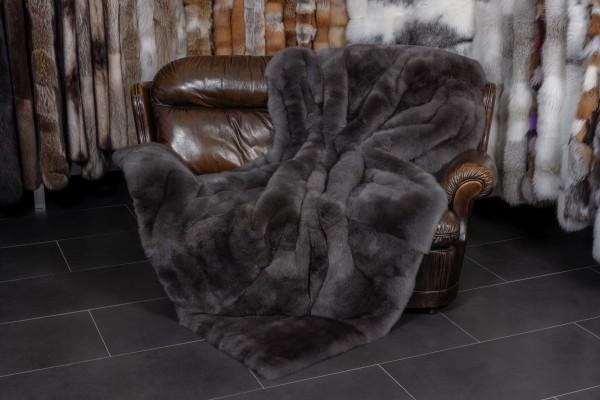 "Fur blanket from German rabbits ""Vienna Blue Rabbit"""