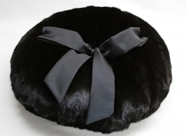 Fur pillow made of mink