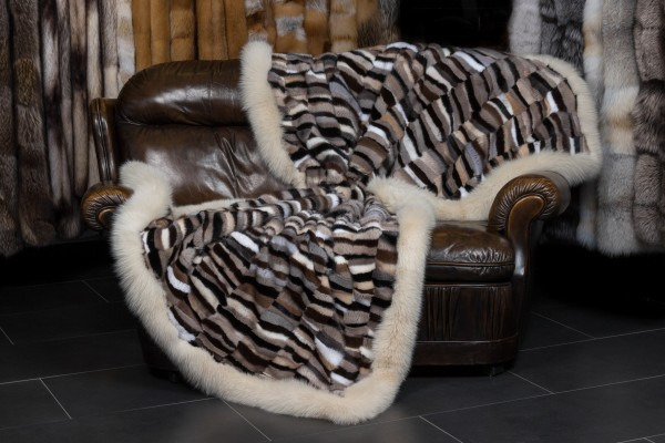 Fur Blanket made with Scandinavian Mink Pieces