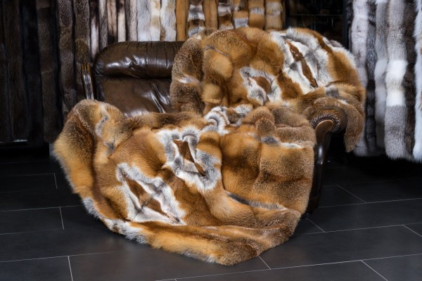 European Red Fox Fur Blanket - basic style
