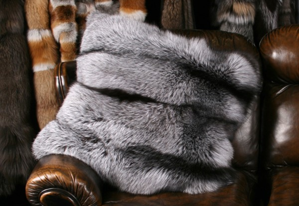 Silver Fox Fur Pillow (SAGA Fur)