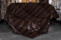 Mink Fur Blanket with plucked Mink Back Lining