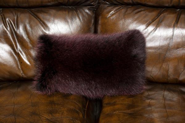 Genuine Raccoon Fur Pillow