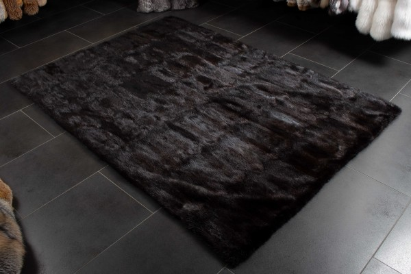 Canadian Musquash Fur Carpet made of Real Fur