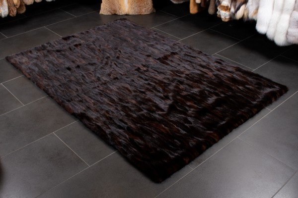 Real Fur Mink Tail Carpet