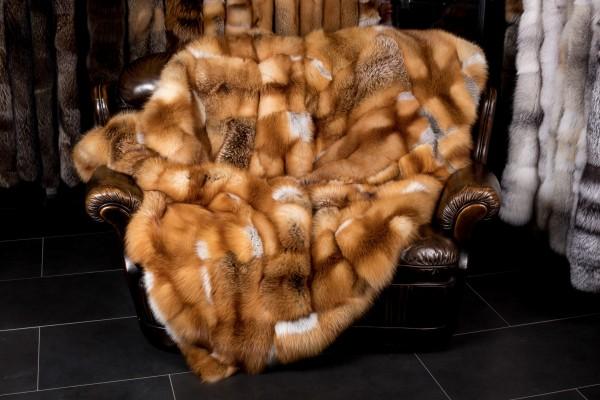 Canadian Redfox Fur Blanket