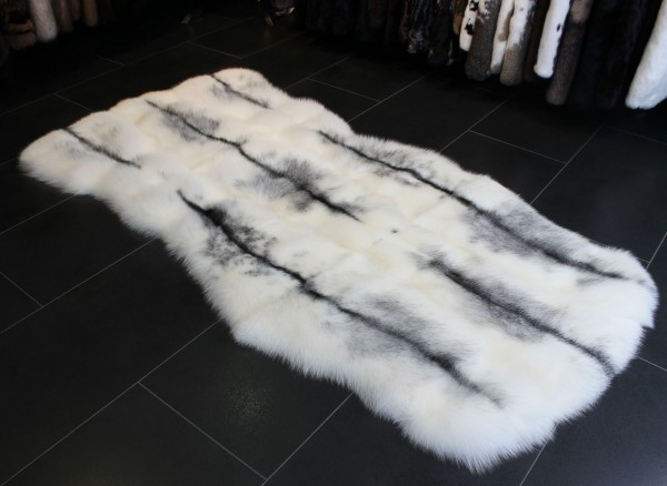 Arctic Marble SAGA Fox Fur Carpet