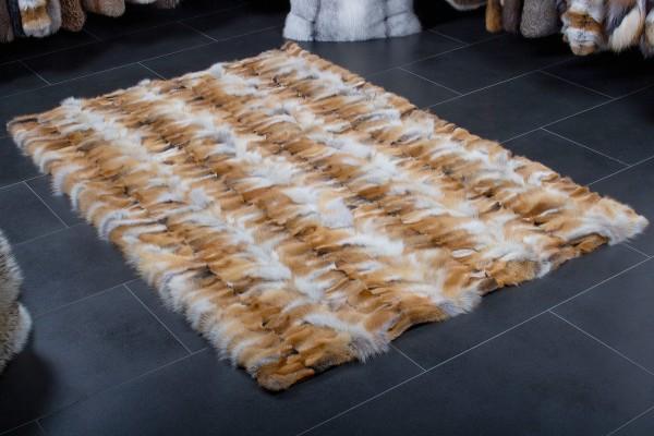 European Red Fox Fur Carpet Light-Type