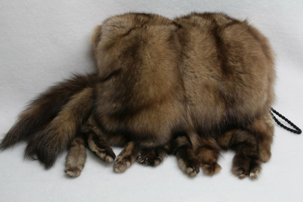 Exclusive fur muff made of russian sable furs