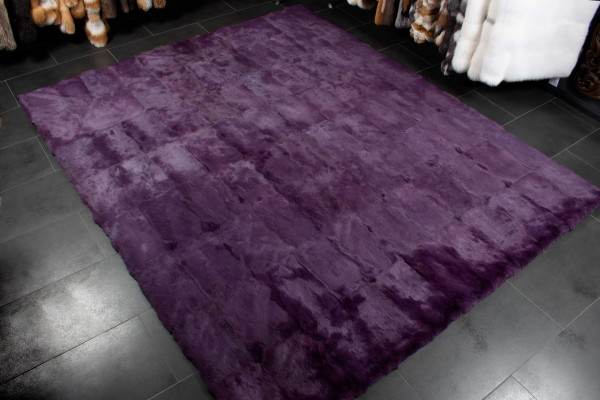 Purple Rabbit Fur Rug
