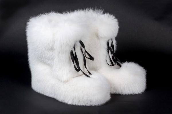 Scandinavian Shadow Fox Fur Boots