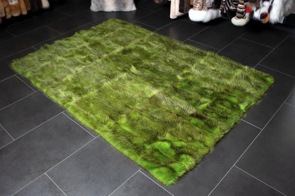 Possum Fur Carpet made with Genuine Wild Fur