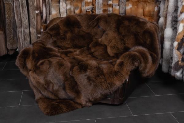 Arctic Marble Frost Fox Blanket in Maroon