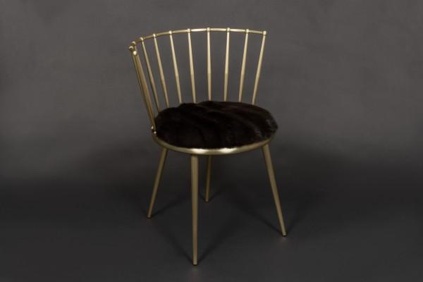 Fine Russian Sable Fur Chair - Gray Smoke