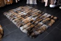 Special Golden Cross Fox Fur Carpet