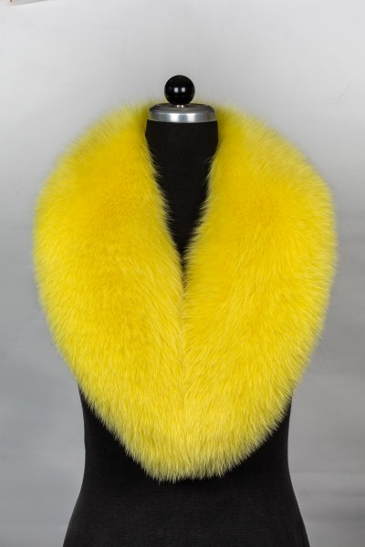 Fur Scarf made with Blue Foxes in Lemon