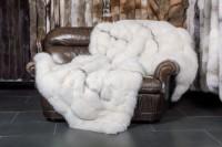 Manta de zorro escarcha azul sombra - SAGA Furs
