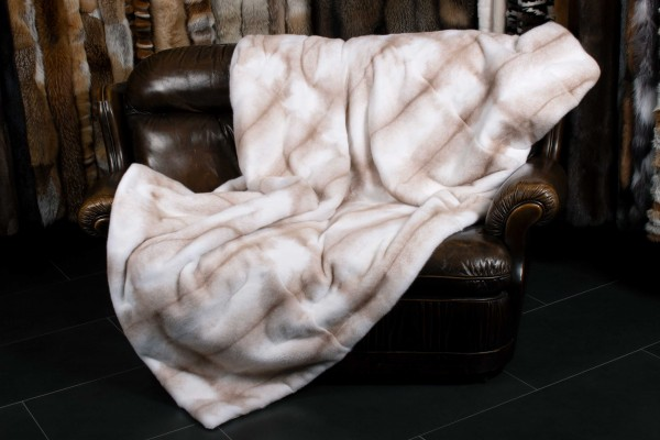 Palomino Cross Mink Fur Blanket - Real Fur