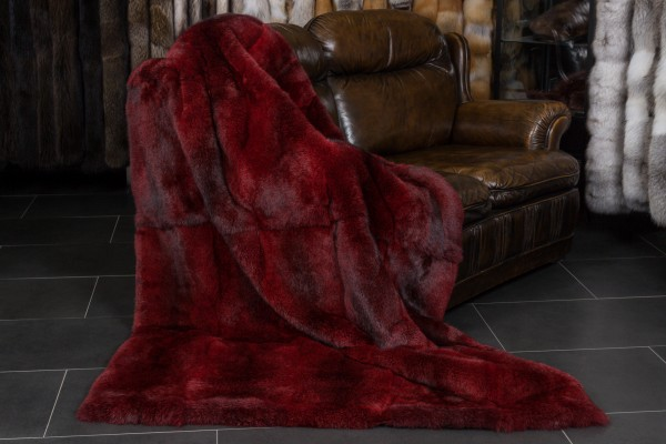 Rabbit Fur Throw Red Lars Paustian