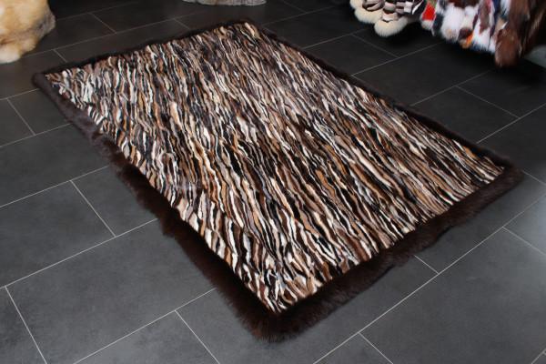 Scandinavian Mink Sides Fur Carpet