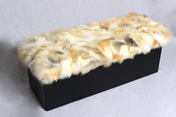 Genuine Golden Fox Fur Ottoman