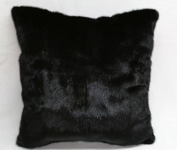 Mink fur pillow - fur on both sides