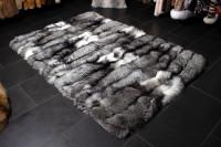 Premium Platinum Frost Fox Fur Carpet