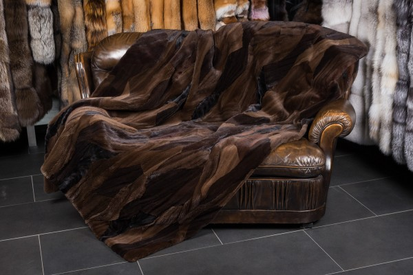 Natural Mink Fur Blanket