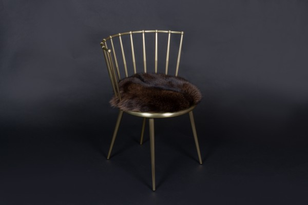 Cantori Chair with Brown Blue Frost Foxes