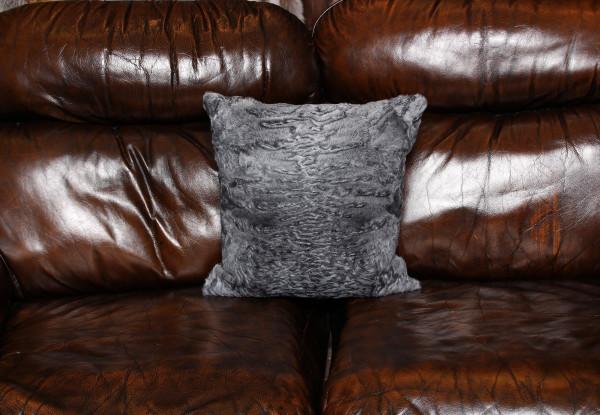 Persian Lamb Pillow in stone gray