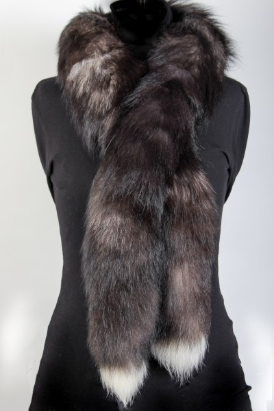Fur boa from scandinavian silver foxes