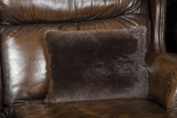 Sheared Beaver Fur Pillow
