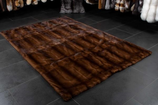 Glow Mink Fur Rug - Genuine Fur