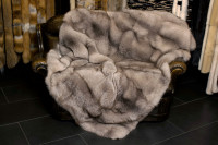 Cozy Real Fur Throw from Scandinavian Amber Fox Skins