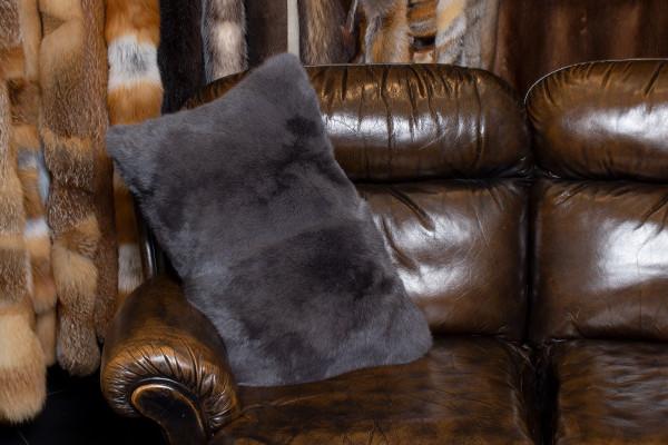 Cozy Fur Cushion in Vienna Blue