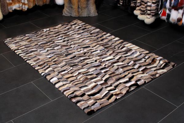 Scandinavian Mink Fur Carpet in Natural Colors