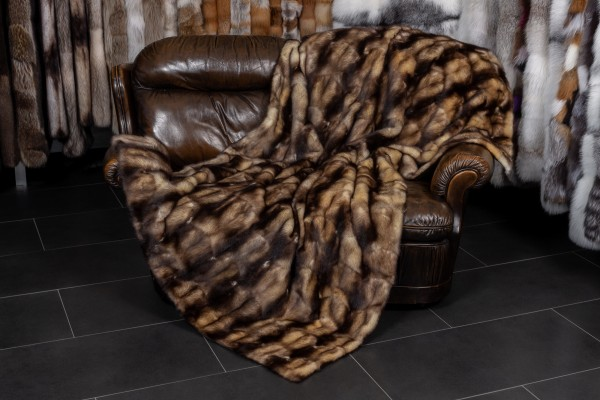 Canadian Fitch Fur Throw