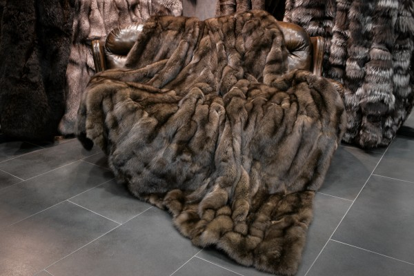 Russian Sable Fur Blanket