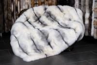 Shadow Blue Frost Fox Throw - SAGA Furs