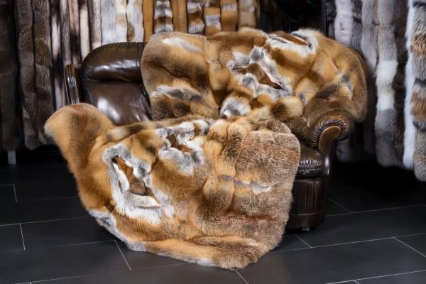 European Red Fox Fur Throw - Light-Type