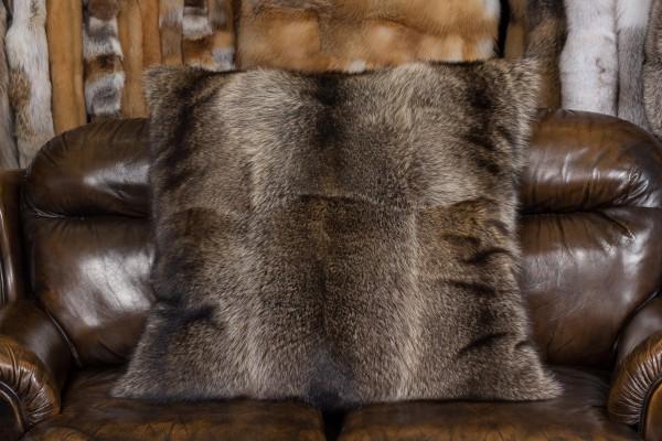 Large Canadian Raccoon Fur Pillow