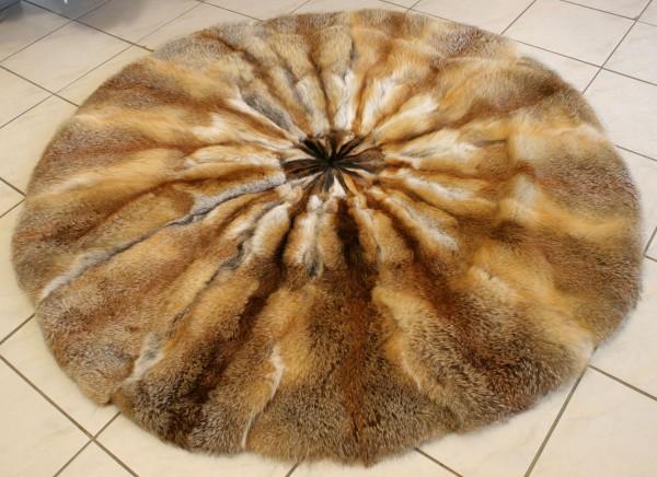 Piel auténtica - alfombra de piel de zorro rojo