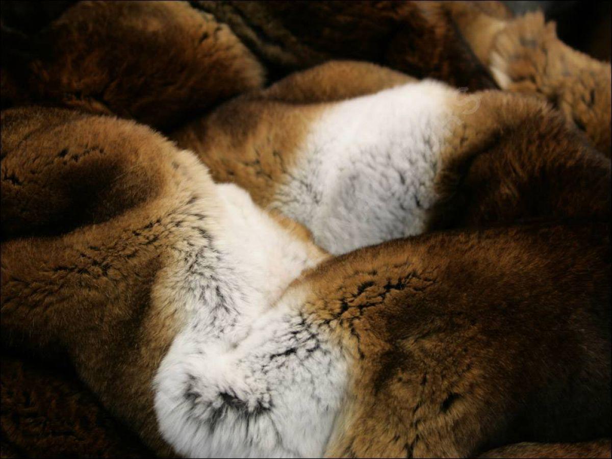 Rex Rabbit Fur Blanket Rex Rabbit Fur Blanket in